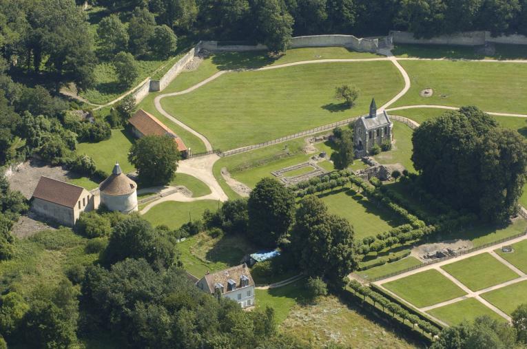 Le site de l'abbaye de Port-Royal des Champs en 2004